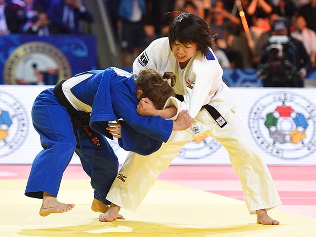 女子個人48kg級決勝 浅見 八瑠奈選手 vs P.PARETO選手�@