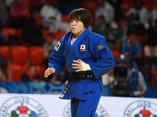2015年アスタナ世界柔道権大会/国別団体戦 女子63kg級 準々決勝 田代未来 vs C.AGBEGNENOU�@