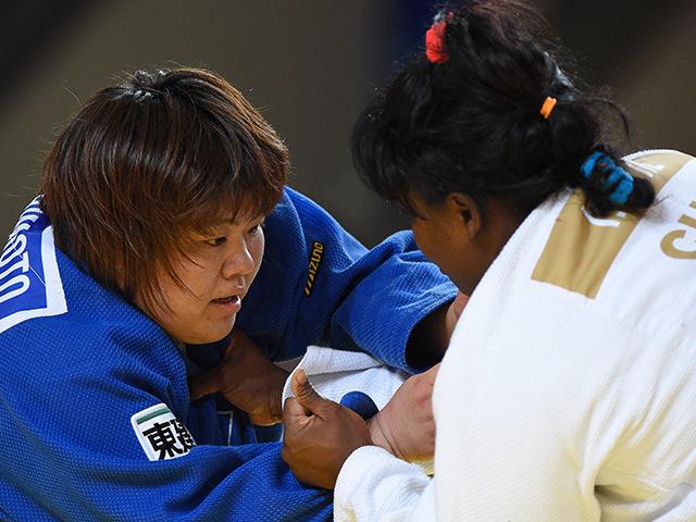 女子78kg超級 準々決勝 田知本愛 vs I.ORTIZ