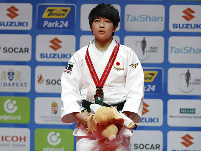 2017年ブダペスト世界柔道選手権大会/国別団体戦 女子48kg級 表彰式 渡名喜風南