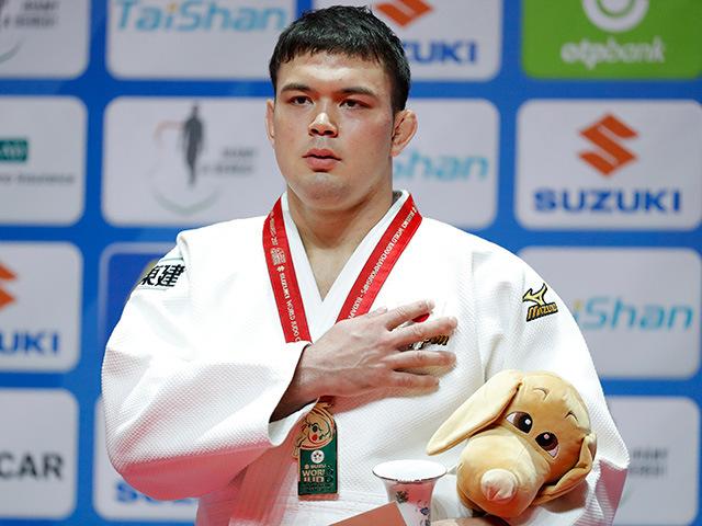 2017年ブダペスト世界柔道選手権大会/国別団体戦 男子100kg級 表彰式 ウルフ アロン