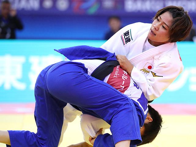 2018年バクー世界柔道選手権大会/国別団体戦 女子48kg級 3回戦 渡名喜風南 vs Y.KANG�@