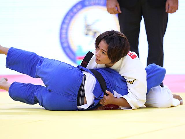 2018年バクー世界柔道選手権大会/国別団体戦 女子48kg級 準々決勝 渡名喜風南 vs J.FIGUEROA
