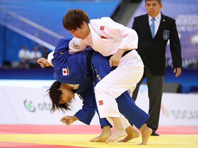 2018年バクー世界柔道選手権大会/国別団体戦 女子48kg級 準決勝戦 渡名喜風南 vs U.MUNKHBAT�@
