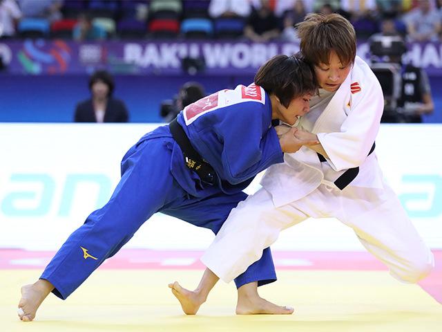 2018年バクー世界柔道選手権大会/国別団体戦 女子48kg級 準決勝戦 渡名喜風南 vs U.MUNKHBAT�A
