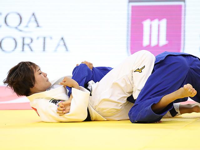 2018年バクー世界柔道選手権大会/国別団体戦 女子48kg級 決勝戦 渡名喜風南 vs D.BILODID�@