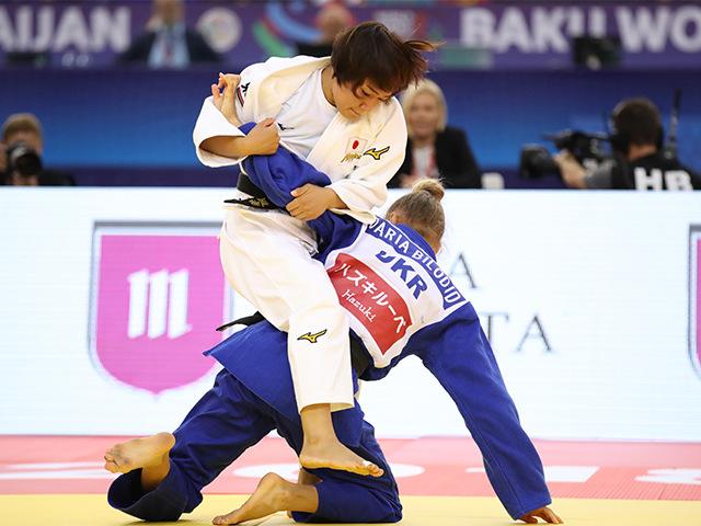 2018年バクー世界柔道選手権大会/国別団体戦 女子48kg級 決勝戦 渡名喜風南 vs D.BILODID�A