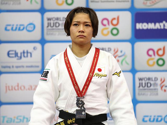 2018年バクー世界柔道選手権大会/国別団体戦 女子48kg級 表彰式 渡名喜風南