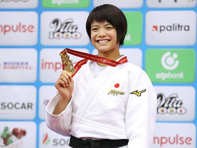 2018年バクー世界柔道選手権大会/国別団体戦 女子52kg級 表彰式 阿部詩