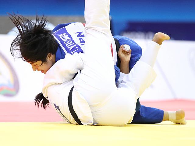2018年バクー世界柔道選手権大会/国別団体戦 女子57kg級 決勝戦 芳田司 vs N.SMYTHE-DAVIS�B