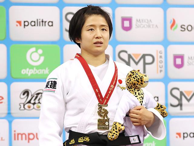2018年バクー世界柔道選手権大会/国別団体戦 女子57kg級 表彰式 芳田司