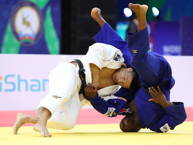 2018年バクー世界柔道選手権大会 男子81kg級 3回戦 藤原崇太郎 vs A.DJALO�@