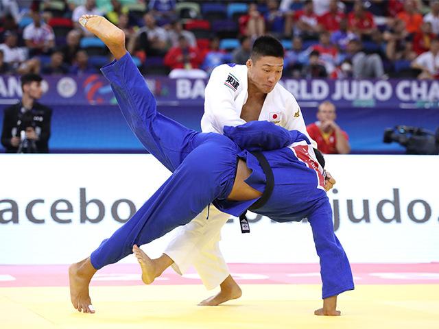 2018年バクー世界柔道選手権大会 男子81kg級 4回戦 藤原崇太郎 vs S.CHOUCHI�A