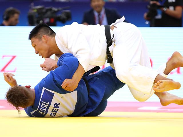 2018年バクー世界柔道選手権大会 男子81kg級 準決勝 藤原崇太郎 vs D.RESSEL�B