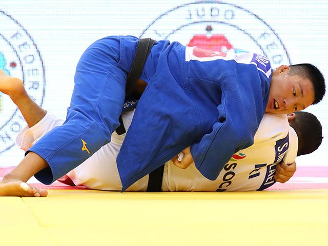 2018年バクー世界柔道選手権大会 男子81kg級 決勝 藤原崇太郎 vs S.MOLLAEI�A
