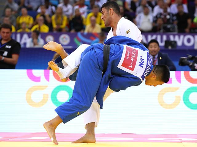 2018年バクー世界柔道選手権大会 男子81kg級 決勝 藤原崇太郎 vs S.MOLLAEI�B