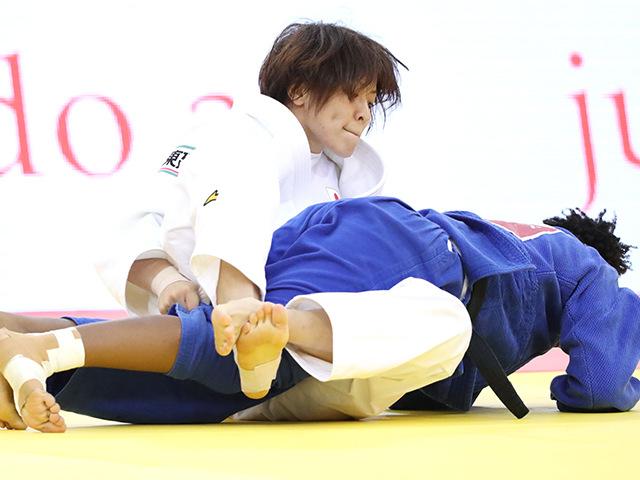 2018年バクー世界柔道権大会/国別団体戦 女子63kg級 2回戦 田代未来 vs S.SUELLEN�A