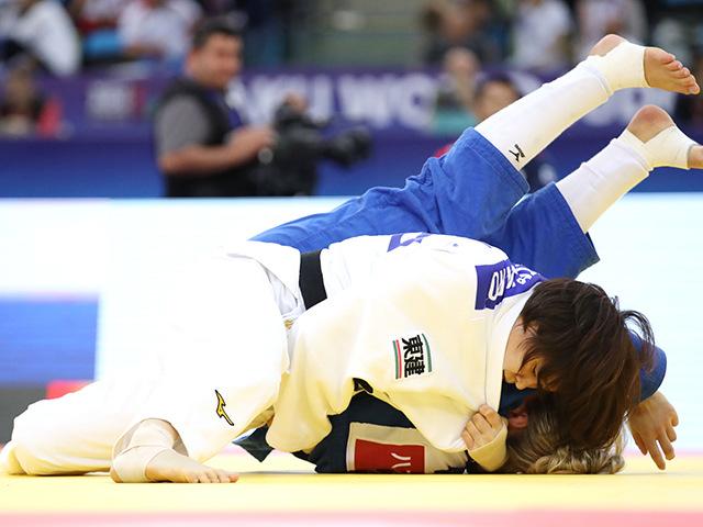2018年バクー世界柔道権大会/国別団体戦 女子63kg級 準々決勝 田代未来 vs J.FRANSSEN