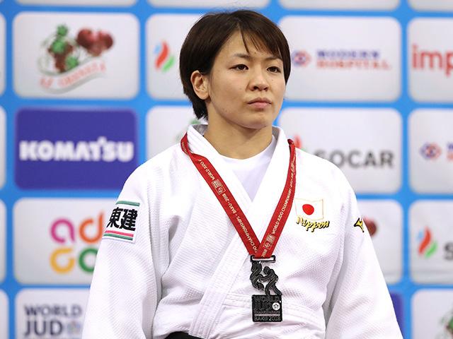 2018年バクー世界柔道権大会/国別団体戦 女子63kg級 表彰式 田代未来
