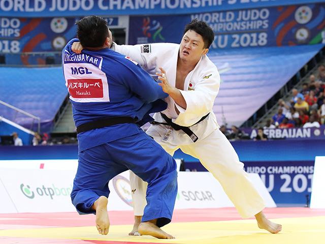 2018年バクー世界柔道選手権大会/国別団体戦 男子100kg超級 準々決勝 原沢久喜 vs D.ULZIIBAYAR