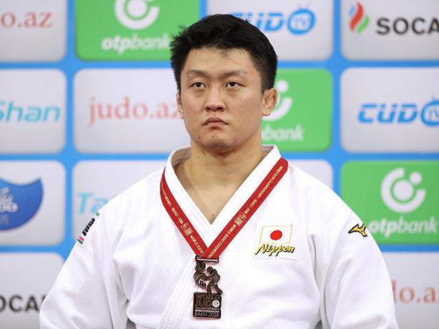 2018年バクー世界柔道選手権大会/国別団体戦 男子100kg超級 表彰式 原沢久喜