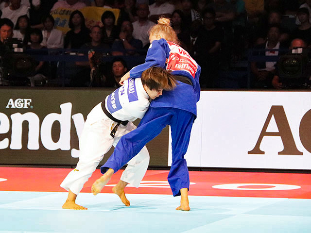 世界柔道2019(世界柔道選手権2019東京大会) 女子48kg級 決勝戦 渡名喜風南 vs D.BILODID�B