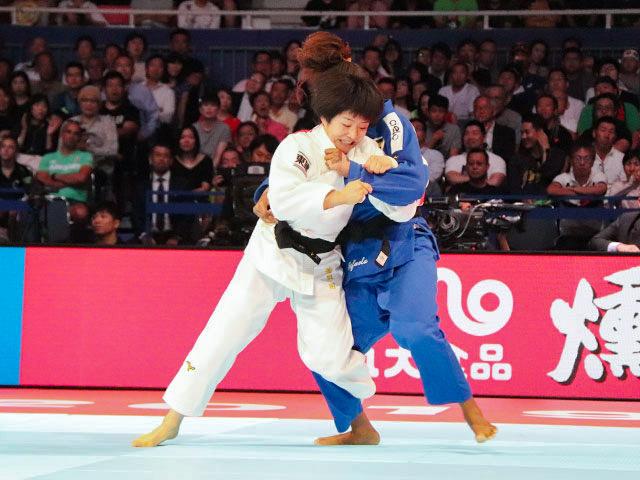 世界柔道2019(世界柔道選手権2019東京大会) 女子57kg級 準決勝戦 芳田司 vs R.SILVA