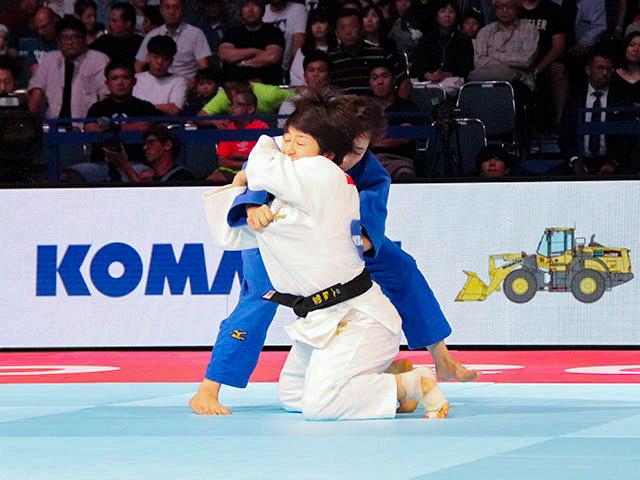 女子57kg級 芳田司 vs C.DEGUCHI