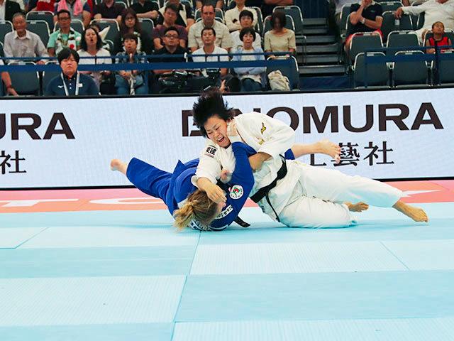 女子78kg級 濱田尚里 vs S.BERGER