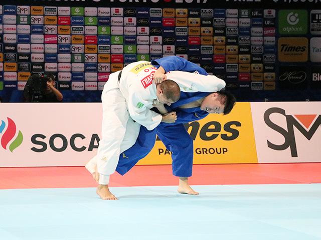男子100kg超級 原沢久喜 vs G.TUSHISHVILI