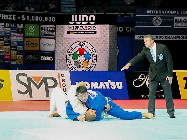 世界柔道2019(世界柔道選手権2019東京大会) 男子100kg超級 準決勝戦 原沢久喜 vs G.TUSHISHVILI�A