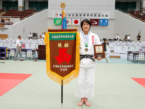優勝した新井千鶴選手(児玉高校)
