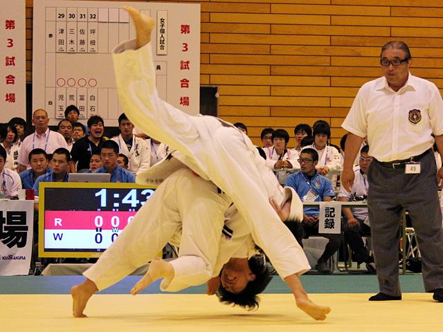 63kg級 工藤七海 vs 田中志歩