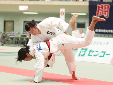 女子78kg級準決勝 西田香穂−重永聡美�B
