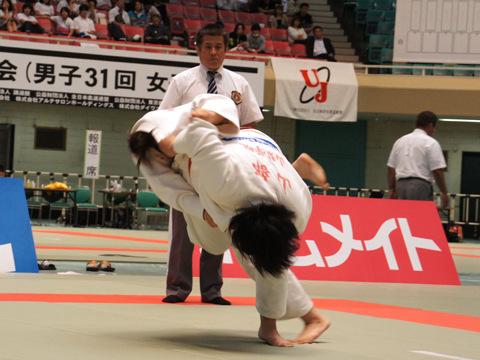 女子78kg超級準決勝 山部佳苗−畑村亜希�A
