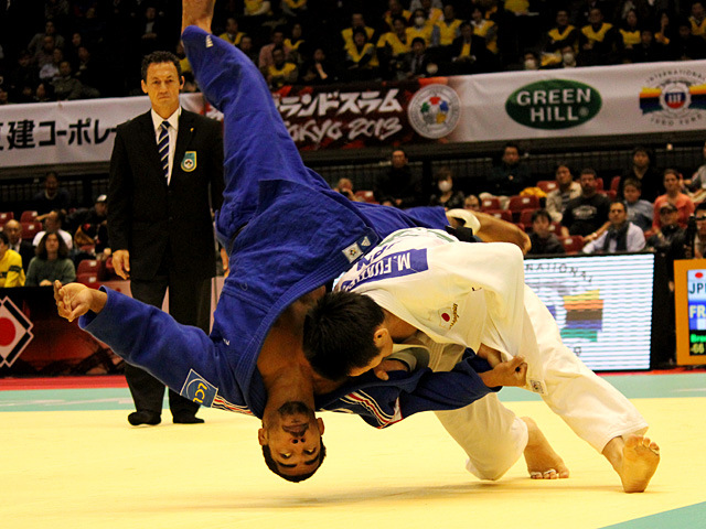 男子66kg級3位決定戦 福岡政章vsD.LAROSE