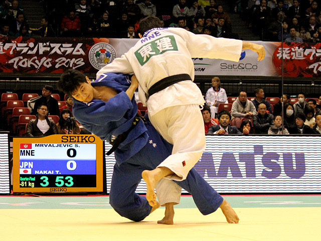 男子81kg級準々決勝 中井貴裕vsS.MRVALJEVIC