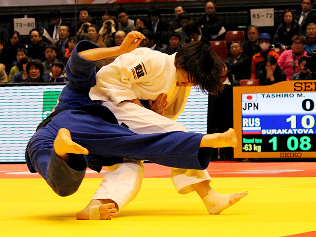 63kg級 田代未来 vs P.SURAKATOVA