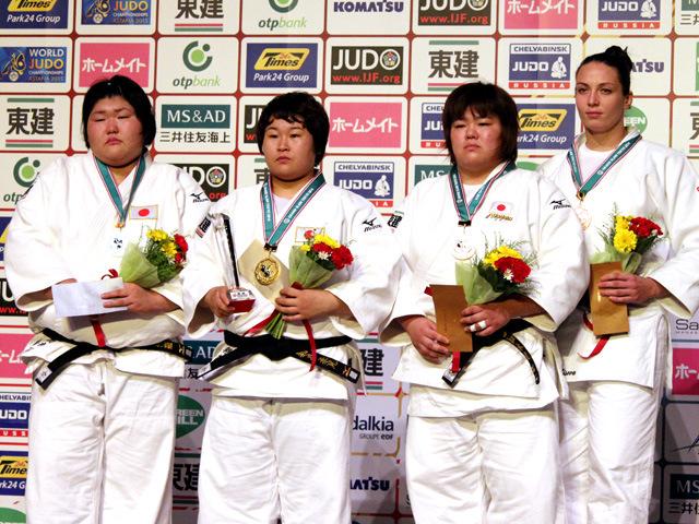 女子78kg超級 表彰式