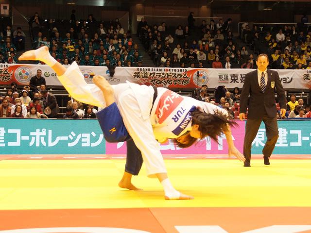 女子48kg級 準決勝 近藤亜美 vs E.SAHIN�@