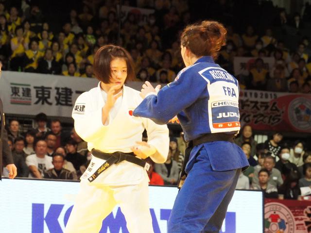 女子57kg級 決勝 芳田司 vs H.RECEVEAUX
