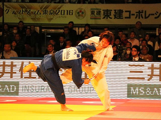 柔道グランドスラム東京2016 女子48kg級 3位決定戦 渡名喜風南 vs 遠藤宏美