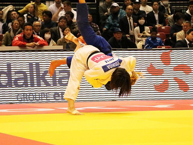 柔道グランドスラム東京2016 女子57kg級 2回戦 芳田司 vs J.KLIMKAIT