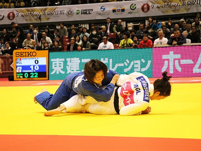 柔道グランドスラム東京2016 女子57kg級 準決勝戦 芳田司 vs M.MALLOY