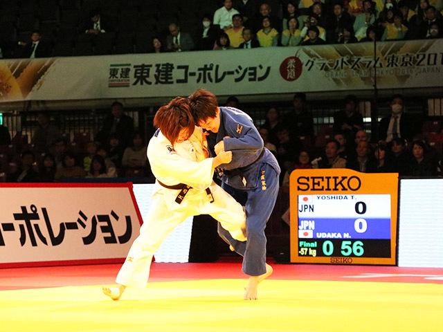 柔道グランドスラム東京2016 女子57kg級 決勝戦 芳田司 vs 宇高菜絵