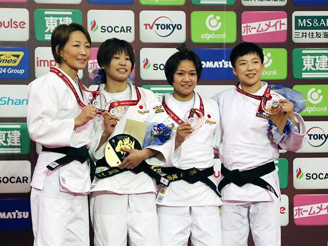 女子48kg級 表彰式