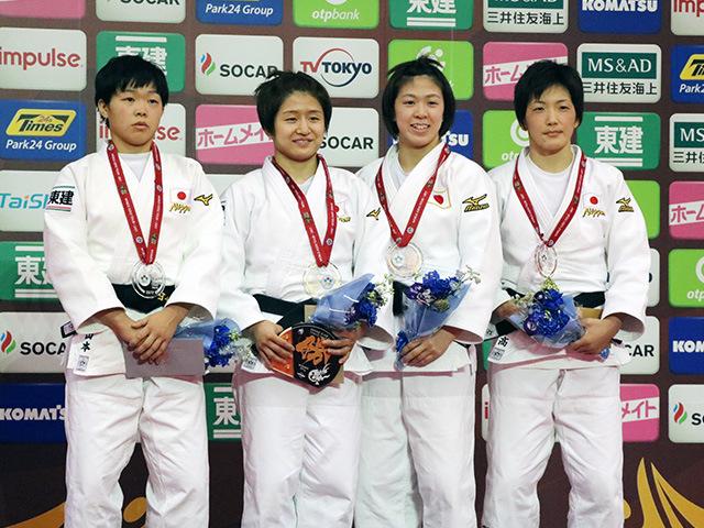 女子57kg級 表彰式