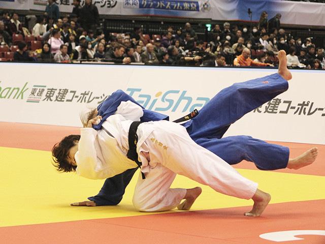 柔道グランドスラム東京2017 女子52kg級 2回戦 志々目愛 vs B.TEMELKOVA