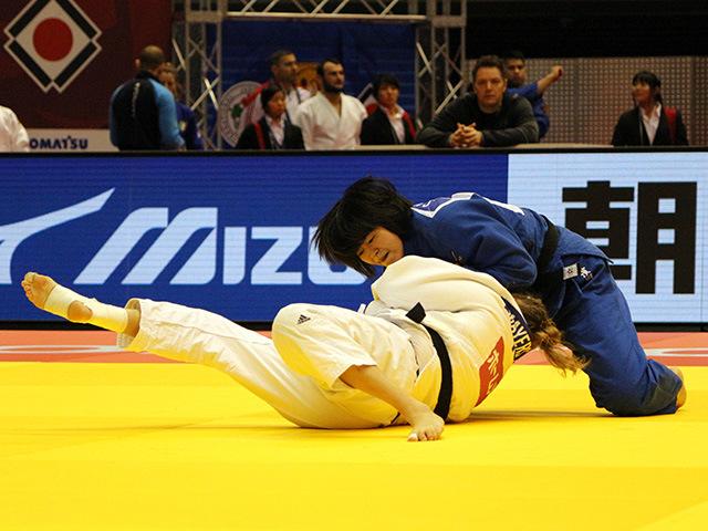 柔道グランドスラム東京2017 女子78kg級 1回戦 濱田尚里 vs Y.MAYERSOHN�A