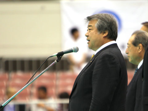 全日本柔道連盟 上村春樹会長の挨拶